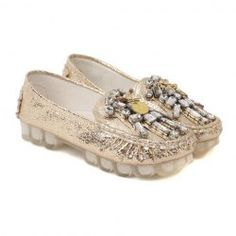 $20.06 Stylish Women's Flat Shoes With Rhinestone and Metal Design