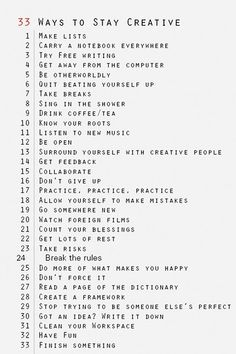 Inner-Outer Beauty. 33 ways to stay creative.