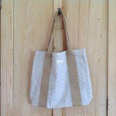 Shopper Bag - Powder Blue Daisy