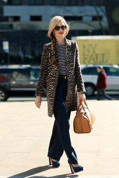 Leopard and Dark Denim (and stripes!) i think I need to get me one of these #jackets