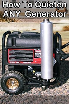 How To Quieten Any Generator - When it comes to prepping a generator is a double edged sword, on one side you have the power to keep warm, cook food and see in the night but on the other side generators are very noisy, people will know you have power and could try and take the generator away or even worse try to kill you for it. Diy Generator, Portable Generator, Power Generator, Emergency Generator, Honda Generator, Survival Food, Camping Survival, Survival Prepping, Emergency Preparedness