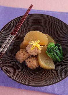 大根と鶏団子の煮物 ゆず風味 のレシピ・作り方 │ABCクッキングスタジオのレシピ | 料理教室・スクールならABCクッキングスタジオ