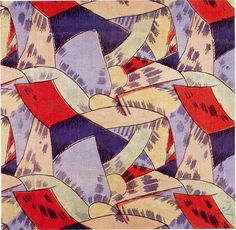 'Amenophis' textile design by Roger Fry, produced by Omega Workshops in 1913
