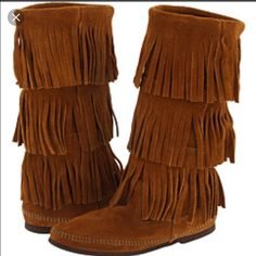 Native American Minnetonka Boots Worn 3 times and look brand new still Shoes Combat & Moto Boots