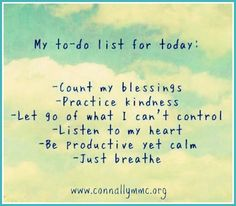 """Have a Wonderful Week Ahead! We have your """"to do"""" list ready for you. :)  http://www.connallymmc.org/"""