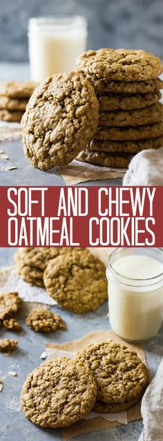 These Soft and Chewy Oatmeal Cookies are an all butter cookie that requires no chilling. They taste phenomenal and stay soft for days!