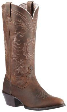 Ariat Magnolia Sunflower Stitch Cowgirl Boots - Medium Toe - Sheplers