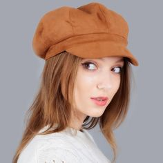 b5c3c48d58619 Suede Women Newsboy Caps Fashion Artist Painter Octagonal Cap Autumn Winter  Warm Newsboy Beret Hat Solid Lovely Causal Casquette - TakoFashion - Women s  ...