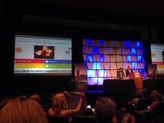 Ask questions in game-show format with Kahoot!. Here, it's being used with participants at the ISTE conference. (Image via Kahoot!)
