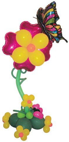 #240 Butterfly Delight Topiary - This whimsical design is full of color and fun and makes a big impact for décor, gift and display. www.betallic.com #betallic