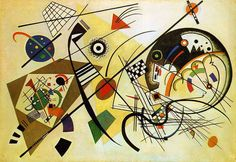 V. Kandinskij; La linea trasversale,1923,Kunstsammlung Nordrhein-Westfalen, Düsseldorf.