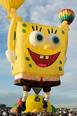 Sponge Bob...Once a year in Tucson, they would have a balloon festival and you would see this and more!