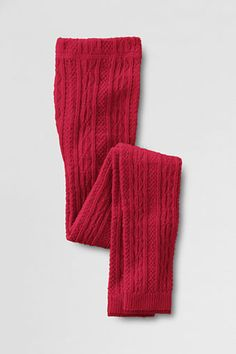 Girls' Cozy Cable Leggings from Lands' End: Black or Red