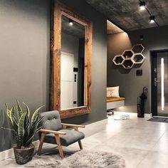 Foyer Design, Hall Design, Loft Design, Home Room Design, Interior Design Living Room, Living Room Designs, House Design, Entrance Hall Decor, Front Room Decor