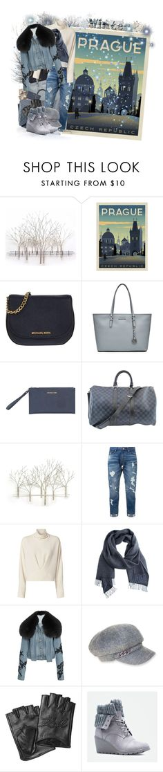 """""""Attire for the journey to Prague in winter"""" by tasha1973 ❤ liked on Polyvore featuring Home Decorators Collection, MICHAEL Michael Kors, Louis Vuitton, Universal Lighting and Decor, Guild Prime, IRO, Jonathan Simkhai, Nine West, Karl Lagerfeld and JustFab"""