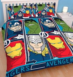 Marvel Avengers Duvet Quilt Cover Set