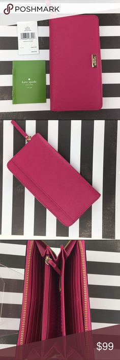 Kate Spade NEDA Wallet Sweetheart Pink NWT JUST ARRIVED!  BRAND NEW FOR HOLIDAY 2016! Kate Spade ♠️Wallet / Clutch 👛 Color: Sweetheart pink /Crosshatched leather Measurements:  CONDITION: New w/ tags - no known damage on bag  Arrives well wrapped with original paperwork and tags.  ❌Trades❌ ⚡️We ship lightening fast⚡️ 🎀Discounts with bundles 🎀 kate spade Bags Wallets