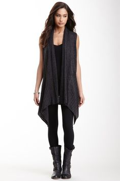 Grey waterfall long vest | Grey | Pinterest | Long vests, Gray and ...