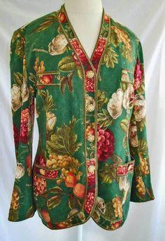 Vintage 60s Trophy Jacket Fruit Print Blazer Lipari Santa Margherita Ligure 14 | eBay