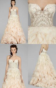 Lazaro Wedding Dresses 2014 Fall Collection with Stylishly Glamorous Designs