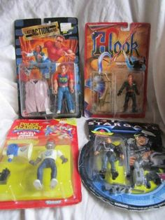 Lot of 4 Action Figures Stargate Hook Police Academy Last Action Hero on Cards | eBay