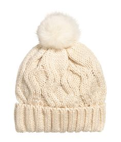 Wool-blend Cable-knit Hat | Product Detail | H&M