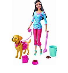 Barbie walking potty pup!