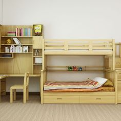 Bunk Beds Adjust, People Do Not. – Bunk Beds for Kids Bunk Bed With Desk, Bunk Beds With Stairs, Cool Bunk Beds, Kids Bunk Beds, Home Decor Bedroom, Kids Bedroom, Bedroom Bed, Bunk Bed Designs, Childrens Beds