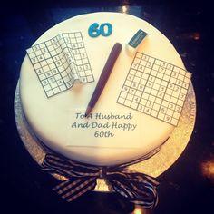 Sudoku themed cake
