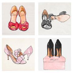 My Shoes Canvas Print, Oliver Gal (Set of 4) at Joss and Main