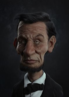 Abraham Lincoln Picture  (3d, character, caricature)