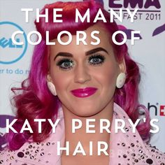The many colors of Katy Perry's hair.
