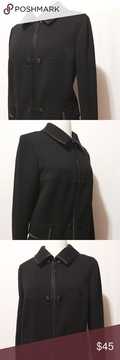 """✨ Vintage Virgin Wool Black Jacket Fabulous find! BK Butter Knit Design. Framed in tonal satin on collar, pocket flaps and front. Double satin covered but to closure. Amazingly well preserved! 100% pure virgin wool 40"""" bust 38"""" waist 16"""" shoulder 22"""" sleeve length 22"""" overall length Vintage Jackets & Coats Blazers"""