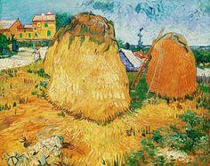 Vincent. - Haystacks in Pro-vence, Arles. June 1888