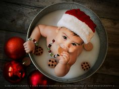christmas photography Baby cookies and milk bath Christmas photogra. christmas photography Baby cookies and milk bath Christmas photography Milk Bath Photos, Bath Pictures, Christmas Photography Kids, Baby Milk Bath, 6 Month Baby Picture Ideas, Christmas Baby, Christmas Cookies, Baby Christmas Photoshoot, Toddler Christmas Pictures