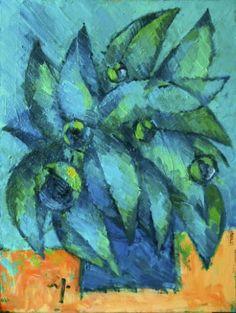 "Saatchi Art Artist Pavel Sluzky; Painting, ""Still Life With Tropical Flowers"" #art"