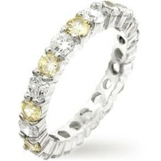 Cameron's Sterling Silver Canary Yellow & CZ Eternity Ring by ada