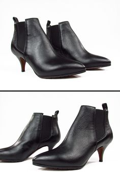 L'AUTRE CHOSE D'ARCHIVE. Slender tip. Elastic bands on both sides. Leather  sole and anti-slip rubber.