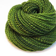 Handspun Yarn - Green Apple - 140 Yards by valentinearts on @Etsy
