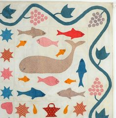 Detail, Folk Art Animals Quilt: Circa 1860; Connecticut, Stella Rubin