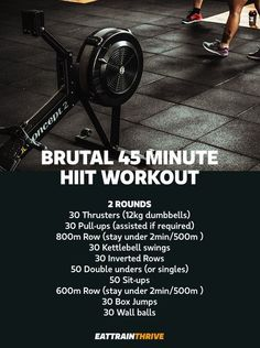 Crossfit Workouts At Home, Rowing Workout, Gym Workout Tips, Workout Challenge, Fun Workouts, Hiit, Cardio, Fitness Herausforderungen, Sport Fitness