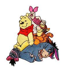 Winnie-the-Pooh-Friends-Tigger-Piglet-Eeyore-Disney-Iron-On-Applique-Patch