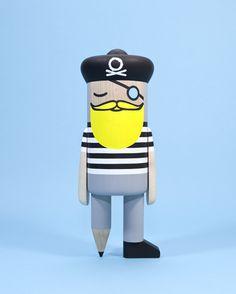 Pencil Pirate 4 from Pen Pencil Stencil >> the studio and workspace of designer Mark Giglio.