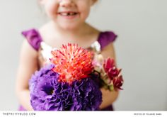 Purple & coral bouquet | Photographers: Yolandé Marx, Flowers & Styling: Heike from Fleur Le Cordeur