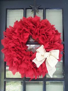 """14"""" Red w white bow"""