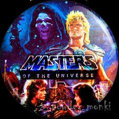 Retro Movie Badge/Magnet - Master Of The Universe ~ www.powdermonki.co.uk ~ £0.99