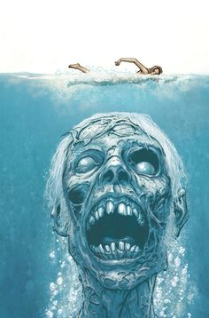 rebel6:by Tony Moore  Tony's illustration reminds us of this comic…Just when you thought it was safe to go in the water.