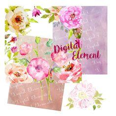 Digital Floral Clip Art Wedding Clip Art by DigitalElement on Etsy