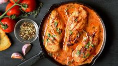A cast-iron pan makes whipping up a satisfying supper, savory sides, or a crowd-pleasing dessert a snap. Get our easy skillet dinner recipes. Easy Skillet Dinner, Skillet Dinners, Cheesy Recipes, Easy Chicken Recipes, Potato Recipes, Dinners To Make, Easy Meals, Braised Cabbage, Sweet Potato Kale