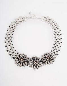 Warehouse | Warehouse Flower Bead Necklace at ASOS